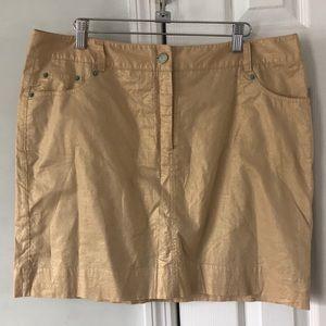 Isaac Mizrahi Golden Metallic Skirt (size 14)